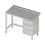 Pracovný stôl so zásuvkami - bez police 1300x600x850mm