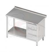 Pracovný stôl so zásuvkami - bez police 1900x700x850mm