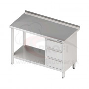 Pracovný stôl so zásuvkami - s policou 1200x700x850mm