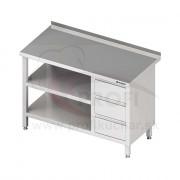 Pracovný stôl so zásuvkami - s 2 policami 1100x600x850mm