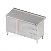 Pracovný stôl so zásuvkami - 2x otváracie dvere 1700x600x850mm