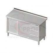Pracovný stôl so zásuvkami -posuvné dvere 1500x700x850mm