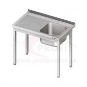Umývací stôl s drezom - bez police 1400x600x850mm
