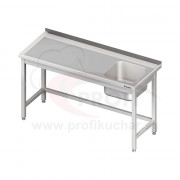 Umývací stôl s drezom - bez police 1500x600x850mm