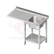 Umývací stôl s priestorom pre podstolovú umývačku – LAVÝ 1500mm