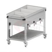 Ohrevný vozík s delenými vaňami – 4 GN