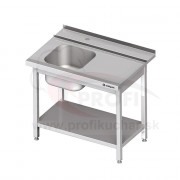 Vstupný stôl k priebežnej umývačke STALGAST – PRAVÝ 1300mm