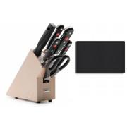 Blok s nožmi 6-dielny Wüsthof CLASSIC + krájacia podložka - 9835-9