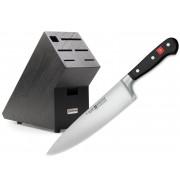 Wüsthof CLASSIC nôž kuchársky 20 cm a Blok na nože tmavý ZDARMA