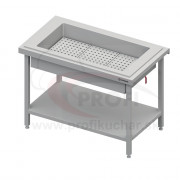 Neutrálny izolovaný stôl na ľad na 3x GN1/1
