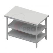 Neutrálný výdajný stôl s dvoma policami - 1300x710x880mm, bez obkladu