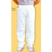 Biele kuchárske nohavice