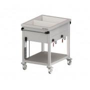 Ohrevný vozík s delenými vaňami – 2 GN