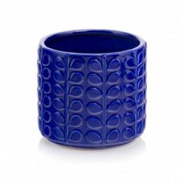 Kvetináč kobalt modrý lesklý 13x13 cm