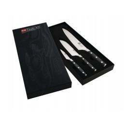 Tsuki - sada 3 nožů z damaškové oceli