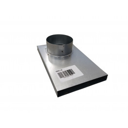 KRATKI Napojenie externého prívodu vzduchu do krbu 90 stupňov - 100 mm