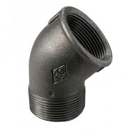 """HD Čierny fiting - Koleno 45° 121 M/F 3/8"""", 12101002"""