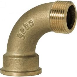 """GEBO Gold - Ms Oblúk 90° M/F 1"""", G1-06BR"""