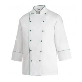 Kuchařský rondon PIPING GREEN 100% bavlna