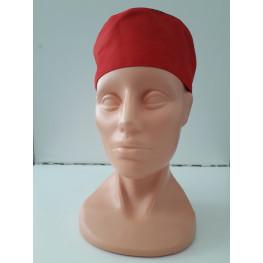 Cool vent vzdušná kuchárska čiapka - červená na gumku