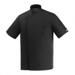 Kuchařský rondon Ottavio černý - krátký rukáv (polybavlna)