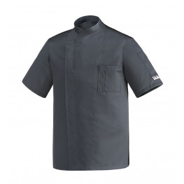Kuchařský rondon OTTAVIO cool vent šedý - krátký rukáv