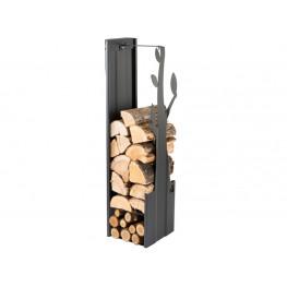 Zásobník na drevo strom černý 270mm