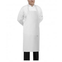 Kuchařská zástěra ke krku BIG BOY - bílá - velikost od 5XL - 7XL