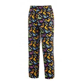 Kuchařské kalhoty DINO, 100% bavlna