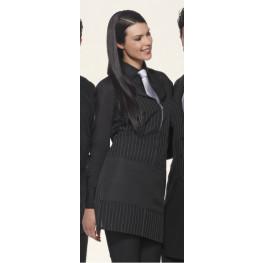 Čašnícka zástera dámska ZIP (čierna, bordová) - Giblor´s