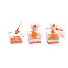 Formičky na tvarovanie pokrmov PRESTO Food Style, štvorce, 3 ks