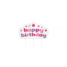Tescoma tortová sviečka DELÍCIA KIDS, Happy birthday - farebný mix
