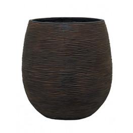 Capi Nature Pot rib ball I brown 25x28 cm