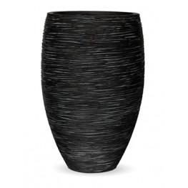Capi Nature Vase elegance deluxe rib black 40/61cm