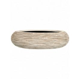 Capi Nature Bowl round rib I ivory 35x10 cm