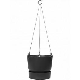 Greenwille Living black hanging basket 24x20 cm