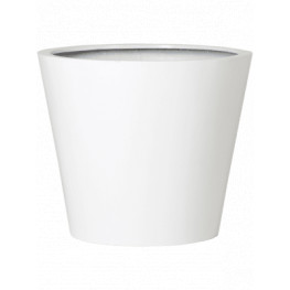 Fiberstone Glossy white bucket M 58x50 cm