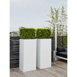 Fiberstone Glossy white bouvy 40x40x80 cm