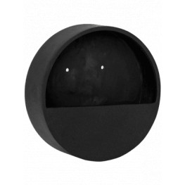Natural wally (hanging) XS round black 30x9 cm