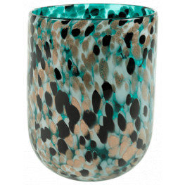 Leia Vase shiny Aqua 20x24 cm
