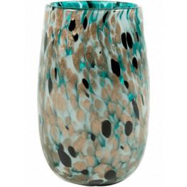 Leia Vase shiny Aqua 12x18 cm