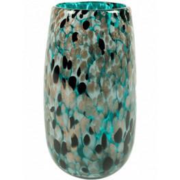 Leia Vase shiny Aqua 14x26 cm