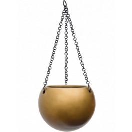 Gradient Hanging globe matt honey 24x19 cm