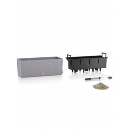 Lechuza Balconera Stone 50 All inclusive set stone gray 50x19x19 cm