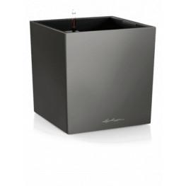 Kvetináč Lechuza Cube Premium All-in-One set antracit 40x40x40 cm
