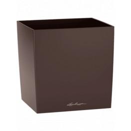 Lechuza Cube Premium Single planter espresso 40x40x40 cm