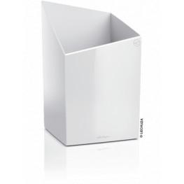 Lechuza Cursivo Premium Single planter white high Gloss 30x30x49 cm