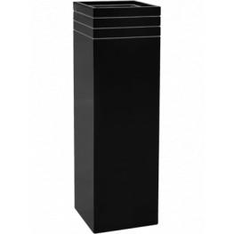 Line-Up Square Matt Black (s vnutrom) 30x30x100 cm