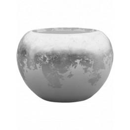 Luxe Lite Glossy Globe white-silver 45x32 cm