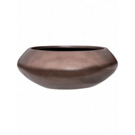 Metalic Silver leaf Bowl Ufo Matt Coffee 40x15 cm